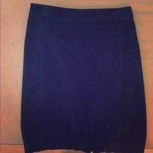 Dark navy corduroy pencil skirt
